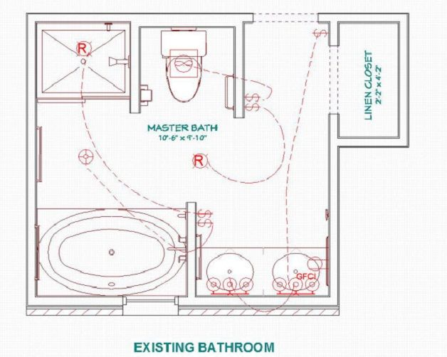 QBest Small Master Bathroom Floor Plans With Closet