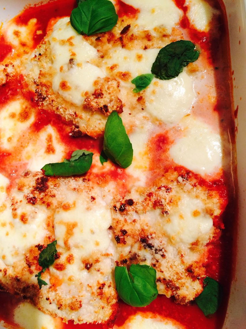 Chicken parmigiana seriously yummy and so easy to make i used chicken parmigiana seriously yummy and so easy to make i used this recipe forumfinder Choice Image
