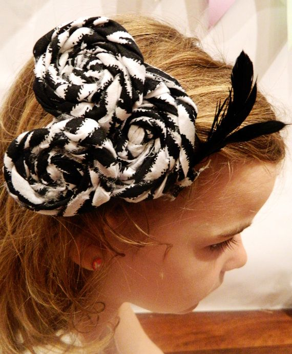 Rolled fabric flower hair clip Can be Mickey shaped by SonBel, $4.00