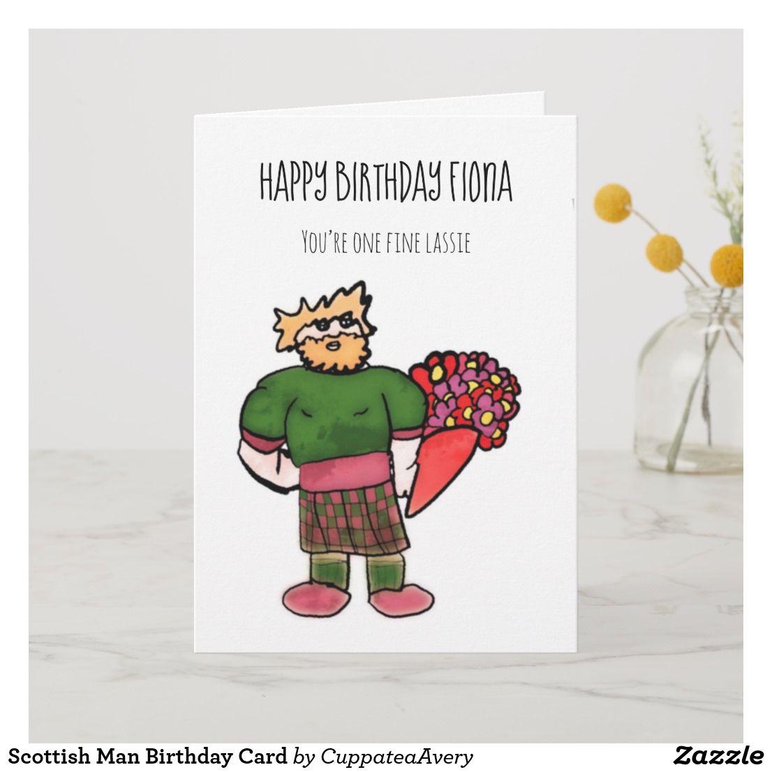 Scottish Man Birthday Card Zazzle Com Au Birthday Cards For Men Birthday Cards Man Birthday