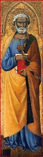 Andrea Vanni (1353-1413) - San Pietro - 1390 - Museum of Fine Arts, Boston.