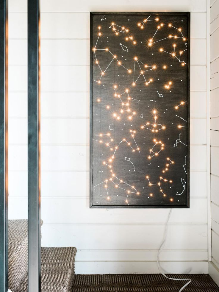 How To Make An Illuminated Constellation Wall Art Diy Home Decor Diy Decor Diy Wall Art