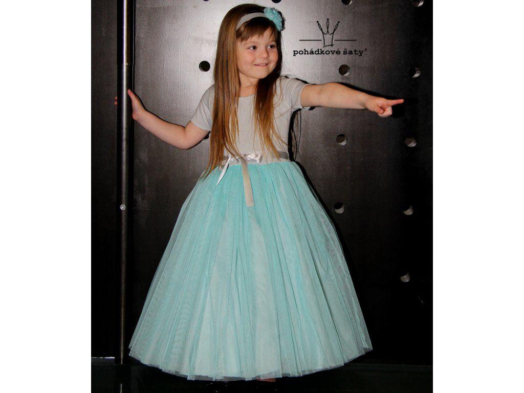 Dívčí dlouhé tylové šaty pro družičky 1127a756c7c