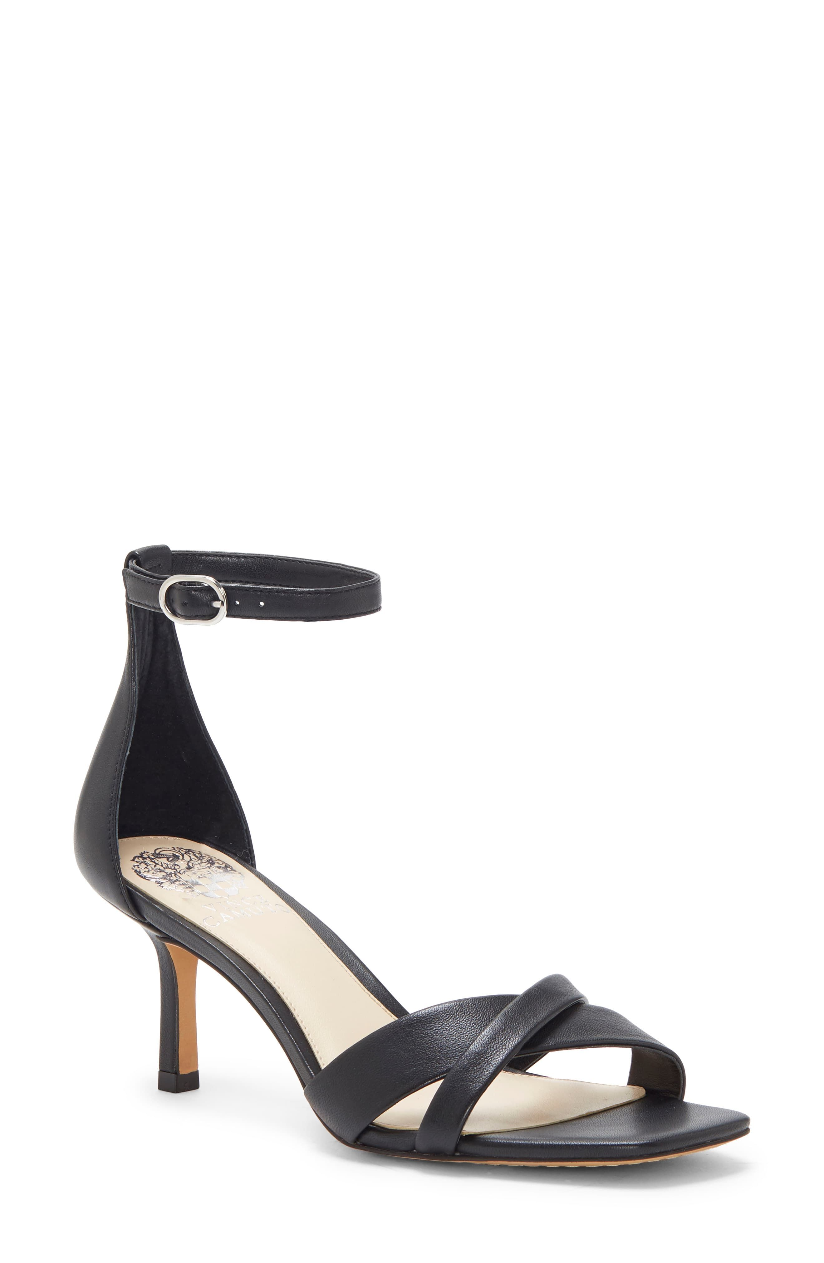 Women S Vince Camuto Sarriss Ankle Strap Sandal Size 6 M Black Ankle Strap Sandals Strap Sandals Ankle Strap