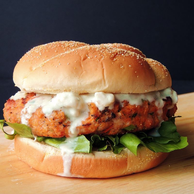 Buffalo chicken wings and burgers collide in this mouth ...