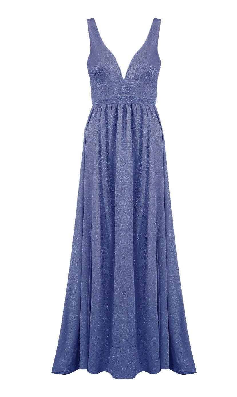 88386471e101 Lucy Wang blå kjole med slæb