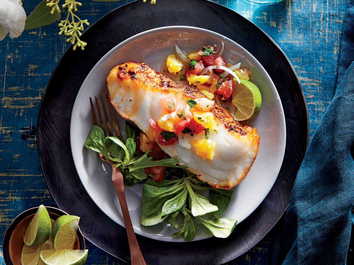 Sea Bass With Citrus Salsa Paleo Recipes Dinner Seafood Dinner Recipes
