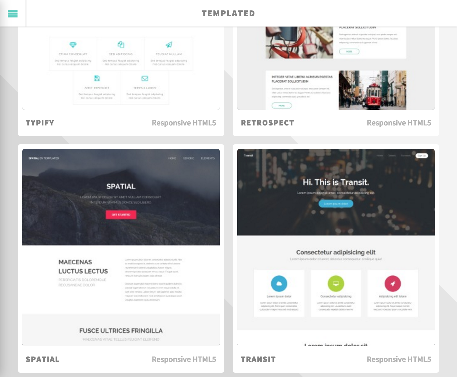 Templated.io - CSS, HTML5 and Responsive Site Templates (not all ...