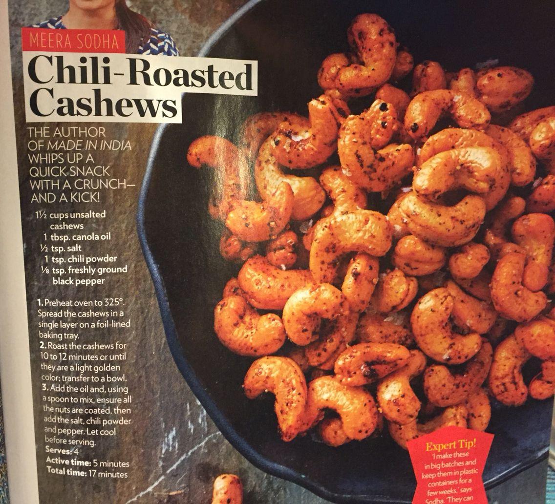 Chili Roasted Cashews from PEOPLE Magazine Roasted