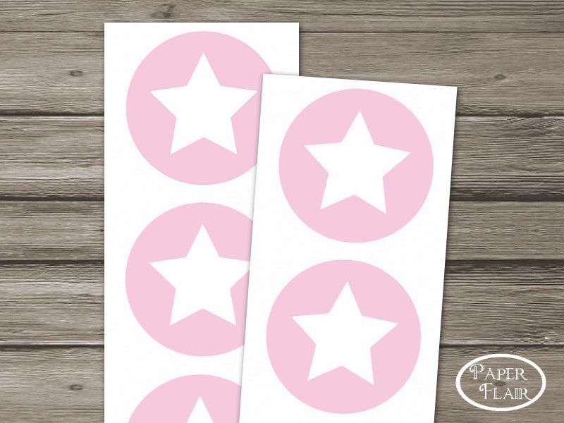 Sticker  Star rosa 10 Stck.