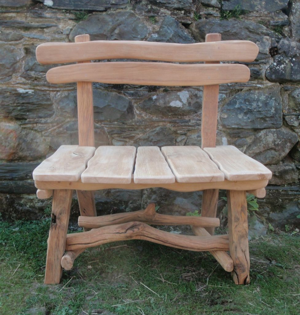 Chunky Oak Rustic Garden Seat | Outdoor seating | Pinterest ... for Driftwood Outdoor Furniture  568zmd