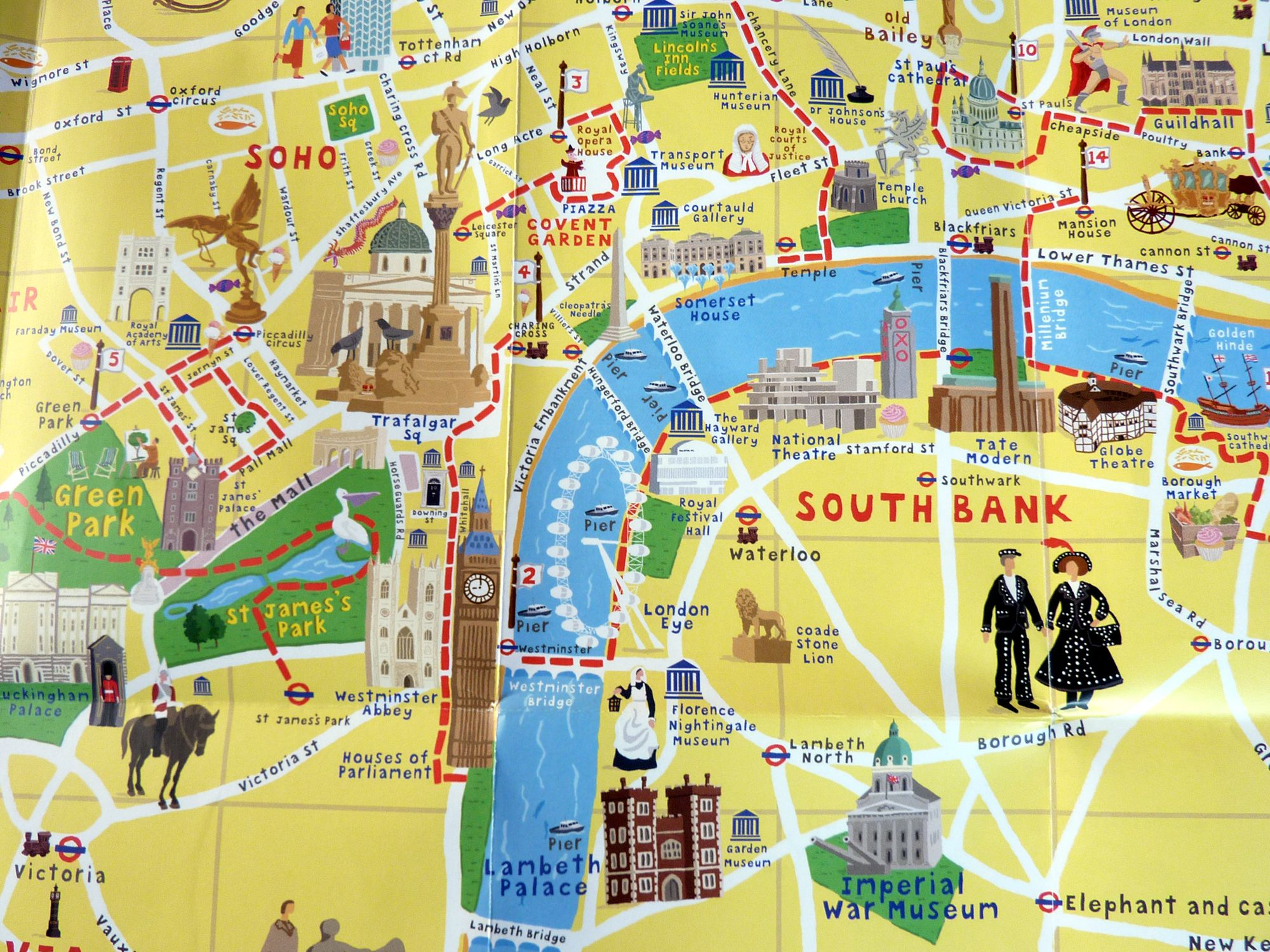 Tourist Map Of London England.Tourist Attractions Most Visitors In London 218 Beauty