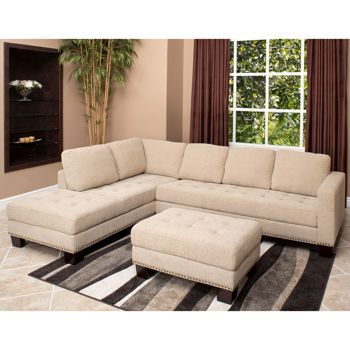Richmond Fabric Sectional and Ottoman if one day i get rid of my old furniture I  sc 1 st  Pinterest : sectional and ottoman - Sectionals, Sofas & Couches