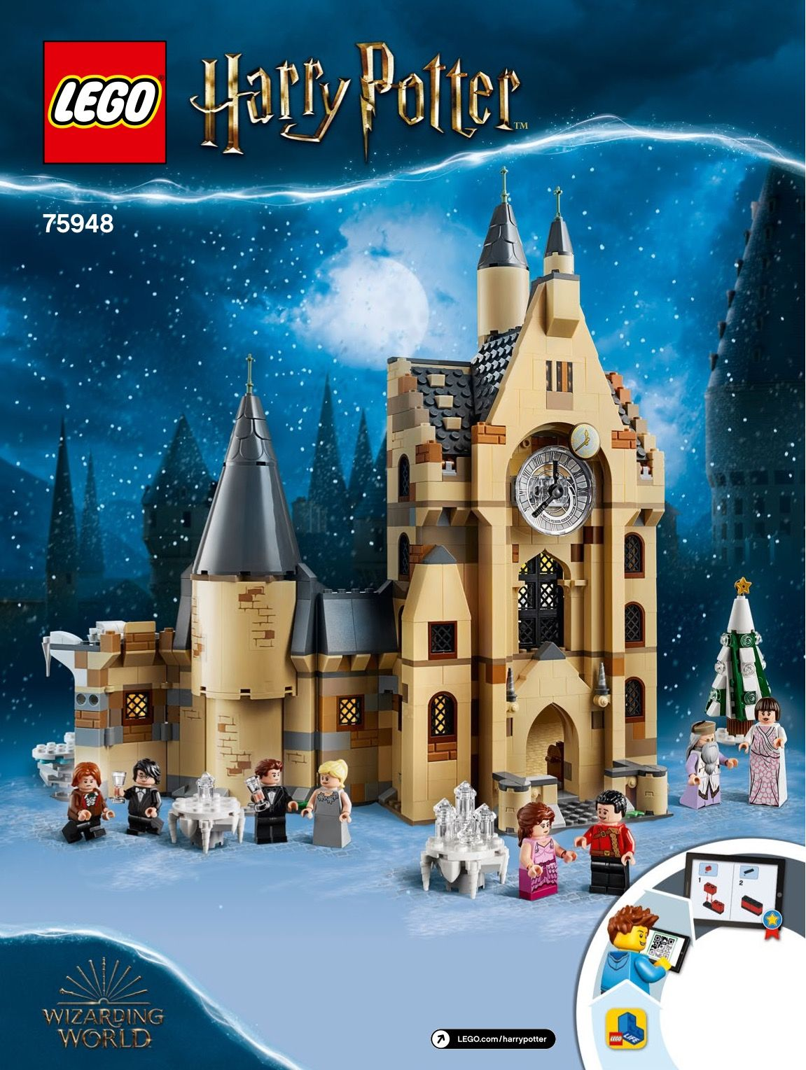 Lego 75948 Hogwarts Clock Tower Instructions Displayed Page By