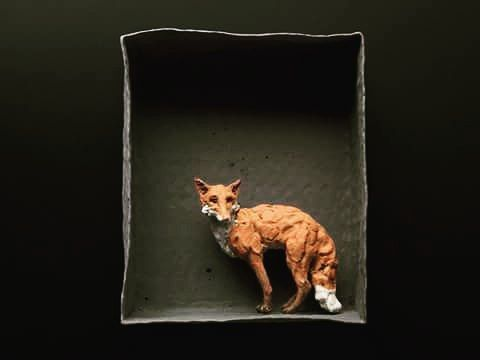 ceramics #fox by marieke.ringel   Animals   Pinterest   Pappmache ...