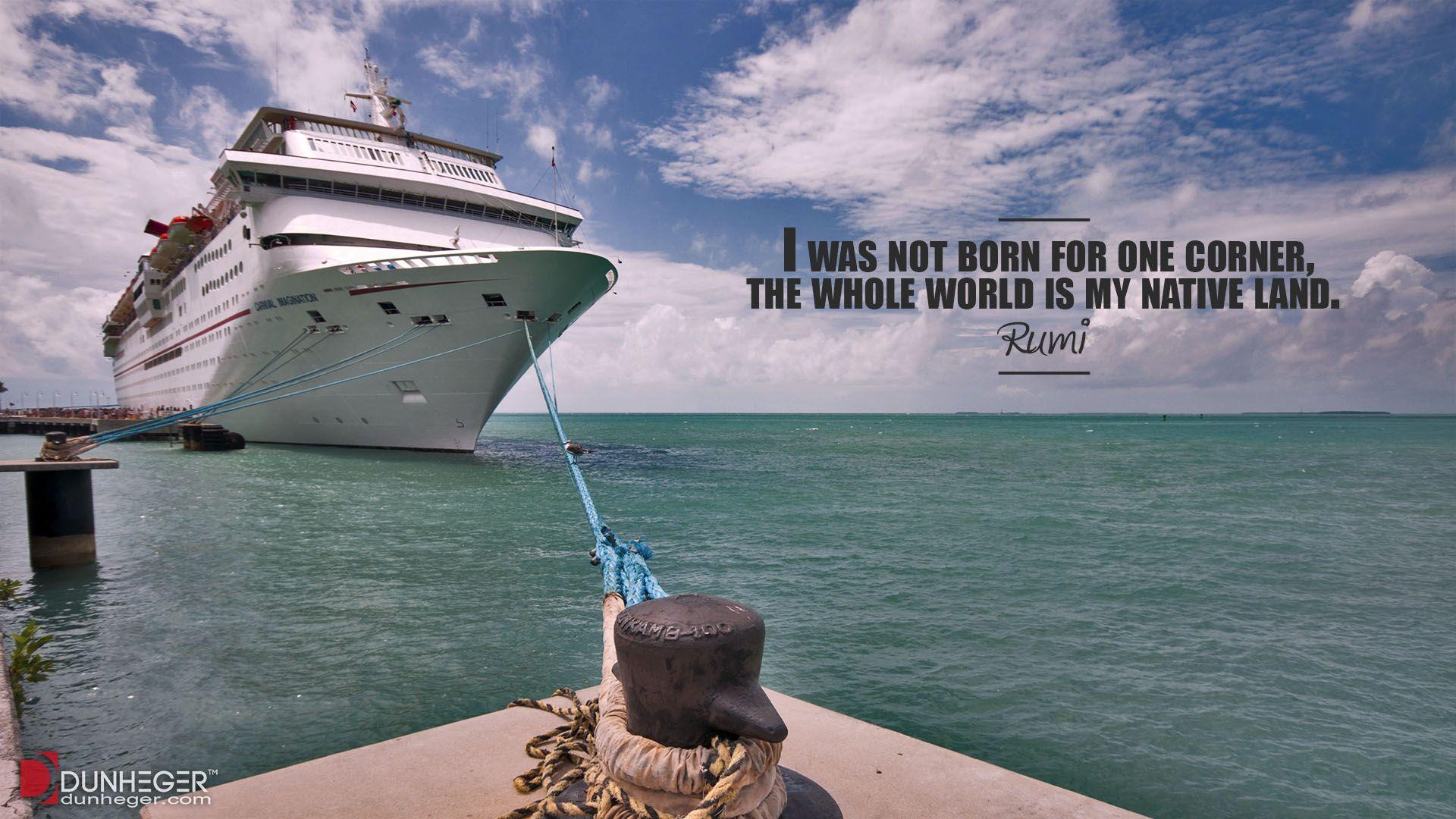 Travel Quotes Rumi Florida Cruise Ship Key West Dunheger - Cruise ships key west