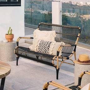 Safavieh Outdoor Living Alda Black/ White 4 Pc Set With ... on Safavieh Alda 4Pc Outdoor Set id=86496