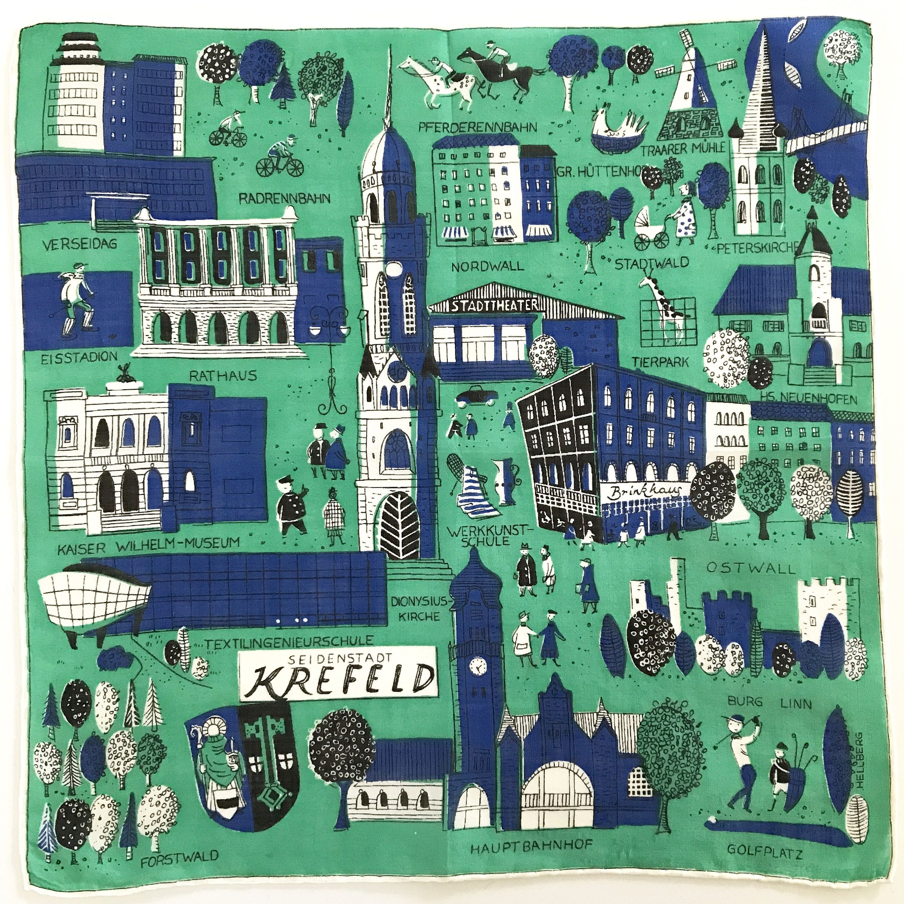 Your Place To Buy And Sell All Things Handmade Vintage Handkerchiefs Mid Century Accessories City Map