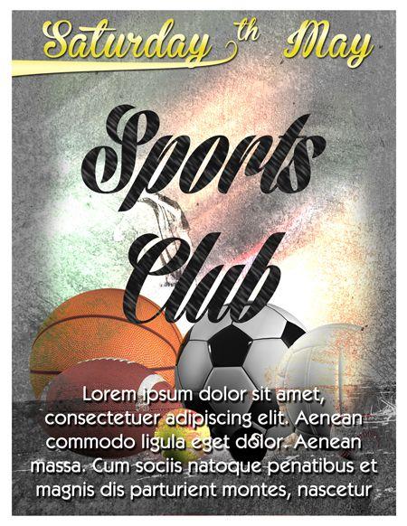 Sports Club Flyer Template | Trendy Flyers | Psdflyers | Pinterest