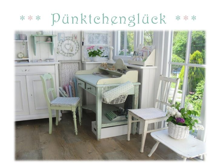 Pünktchenglück craft room office room pinterest desks blog