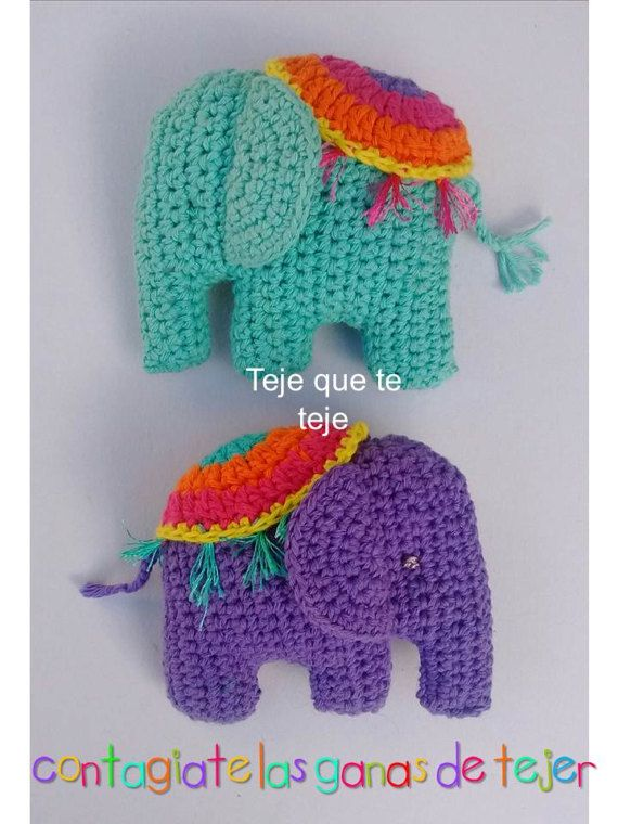 Toy Elephant Pattern #606 | Crochet Patterns | Crochet elephant ... | 760x570