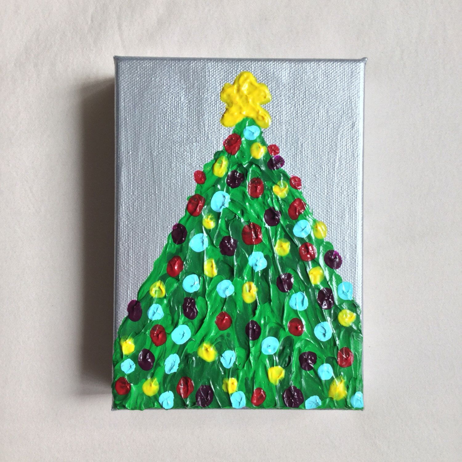 Christmas Painting Christmas Tree Art Christmas Home Decor Etsy Christmas Tree Painting Christmas Paintings Christmas Tree Art