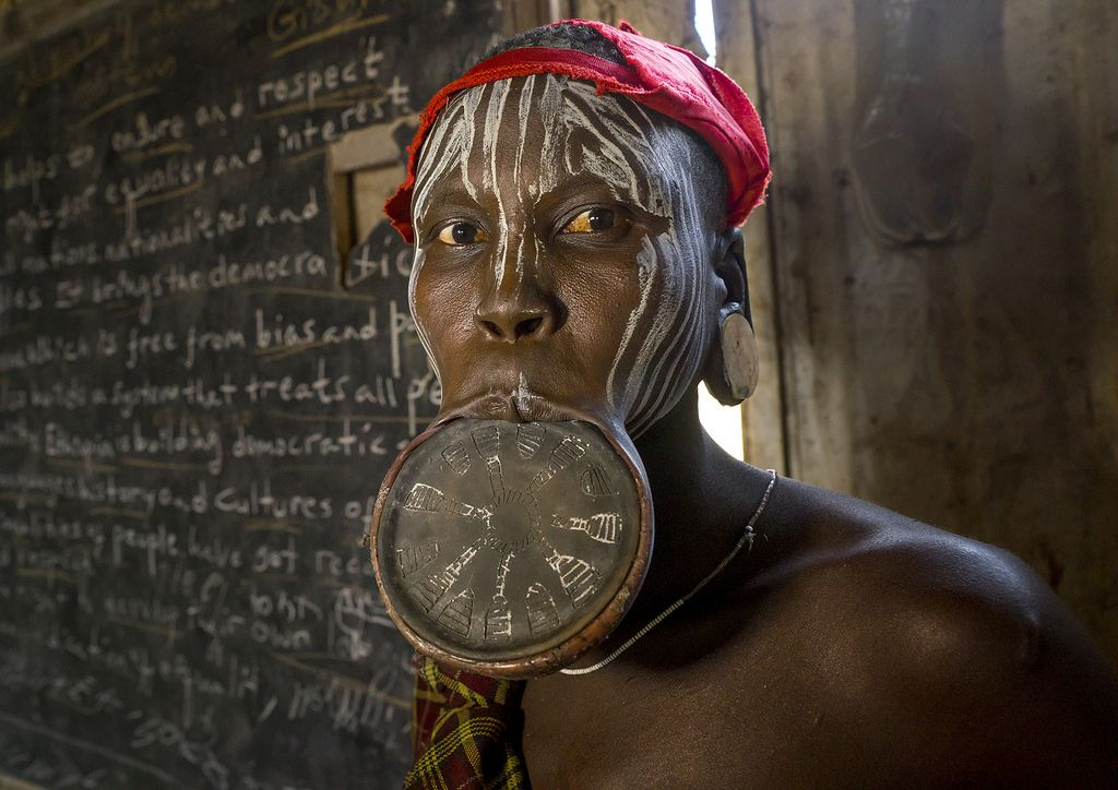 Mursi Tribe Woman With A Huge Lip Plate, Hail Wuha Village, Ethiopia | Flickr - Photo Sharing!