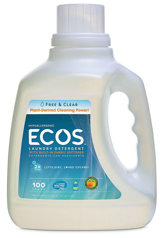 Earth Friendly Ecos Laundry Detergent Free Clear 100 Fl Oz Ecos Laundry Detergent Natural Laundry Detergent Hypoallergenic Laundry Detergent