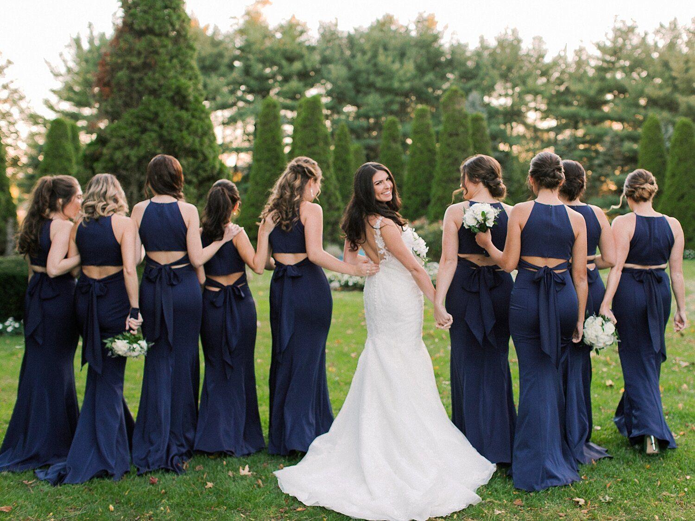 The Carltun Wedding Asher Gardner Photography In 2020 Navy Bridesmaid Gowns Bridesmaid Dresses Kleinfeld Bridal