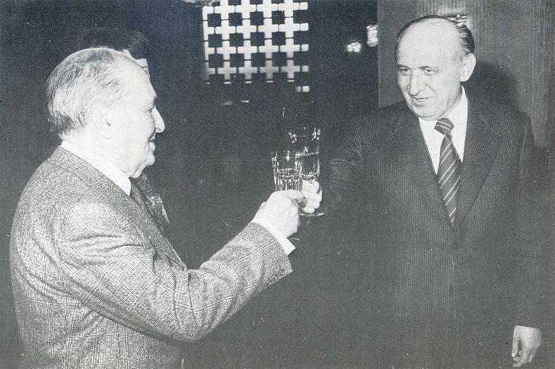 Com o Presidente da Bulgária, Todor Jivkov.  1978