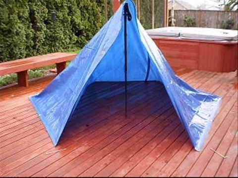 simple tarp tent - no rope needed & 8x10 Tarp Shelter - YouTube video. Because when you are in the ...