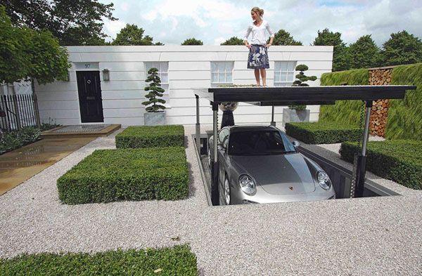 Awesome Garages | Garage Design For The Modern House: Awesome Hidden  Underground Garage .