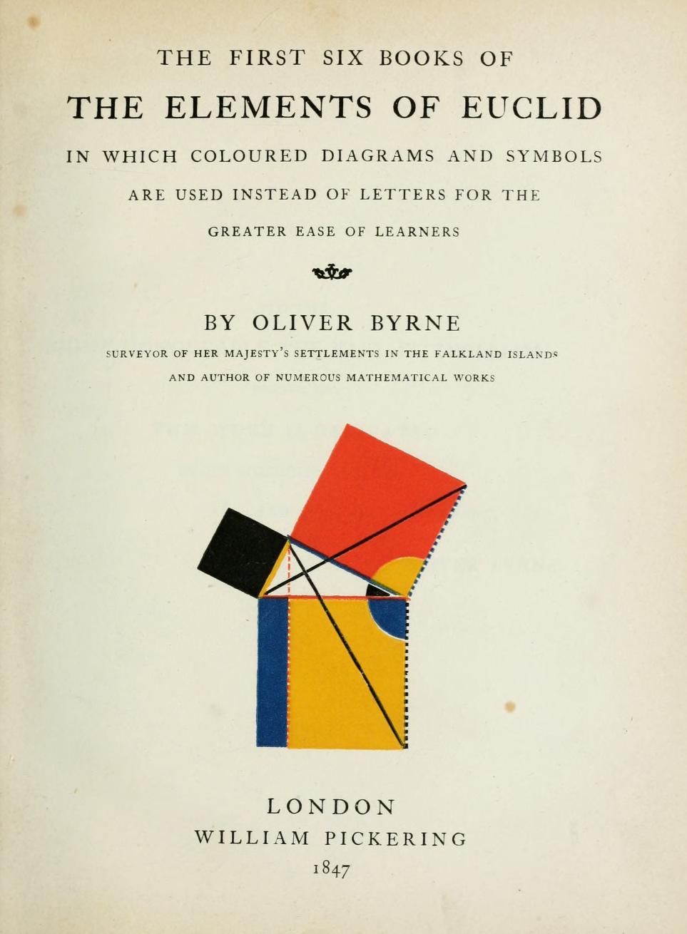 The first six books of the Elements of Euclid, in which