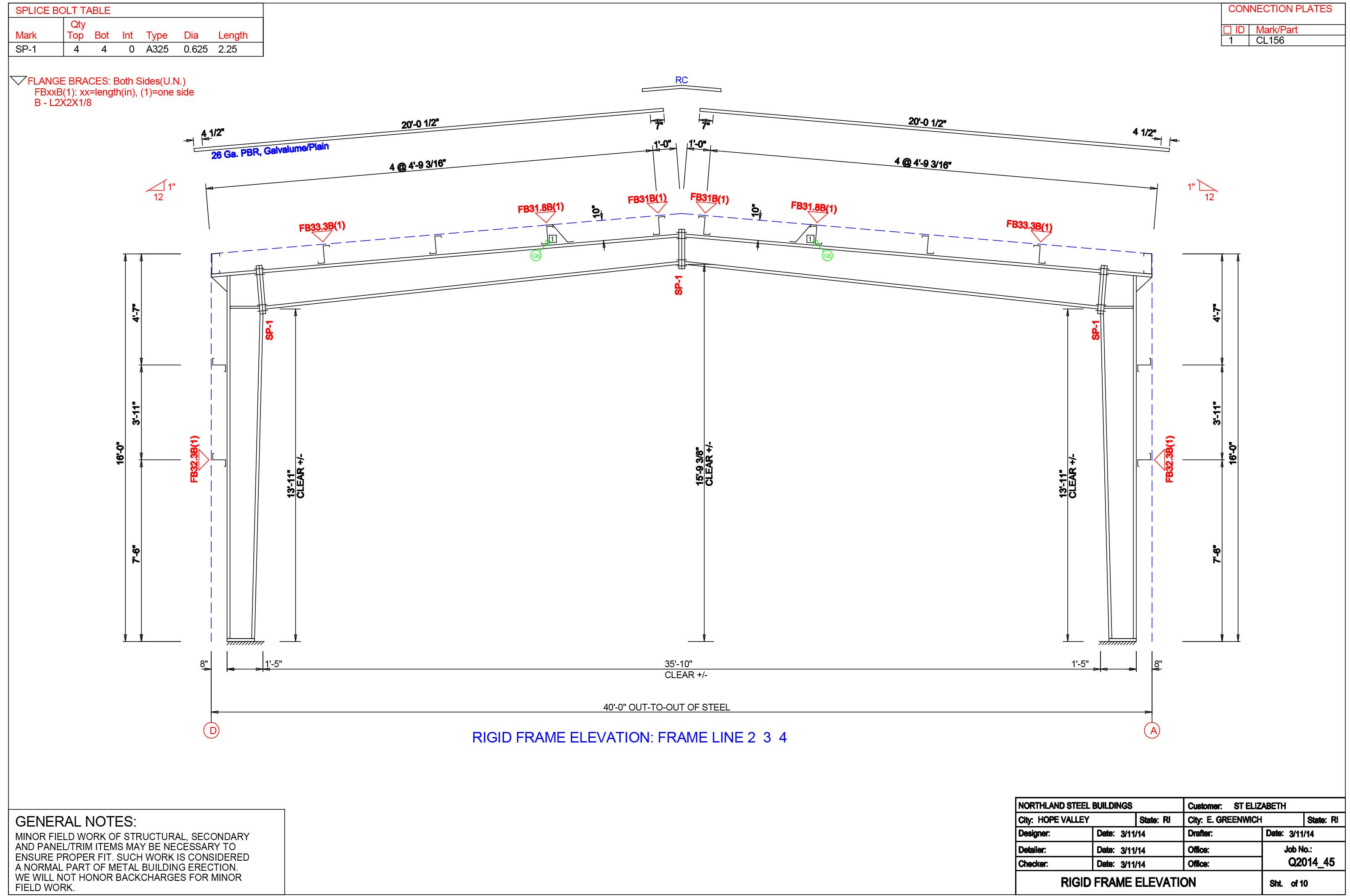 Image result for pre engineered metal building soffit cad for Steel building plans drawings