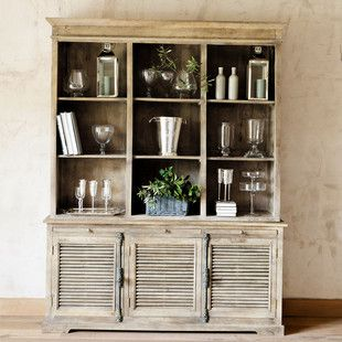 Meuble Bibliotheque Persiennes Mobilier De Salon Deco Deco Sejour