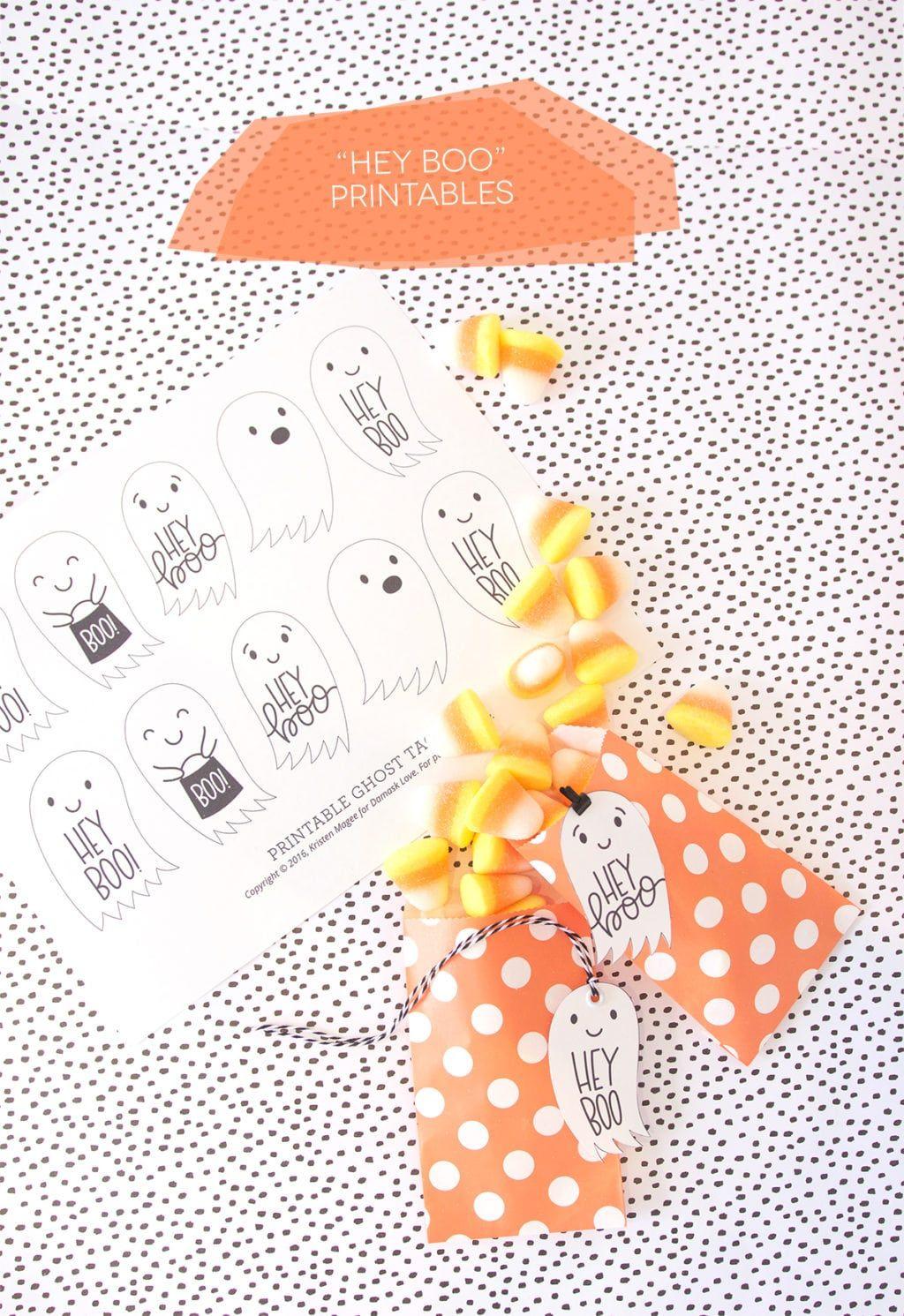 hey boo halloween tag printables holiday fun pinterest rh pinterest com
