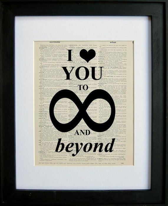 I love you to infinity and beyond printed on a by LePapierGallery ...