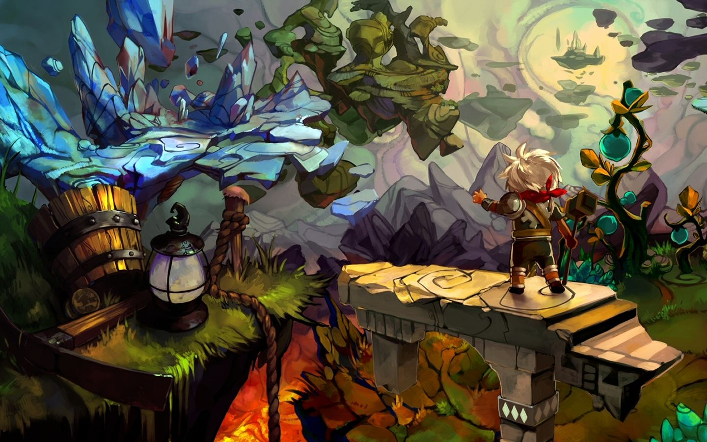 Bastion concept google inspiration art pinterest gaming game art and art styles - Bastion wallpaper ...