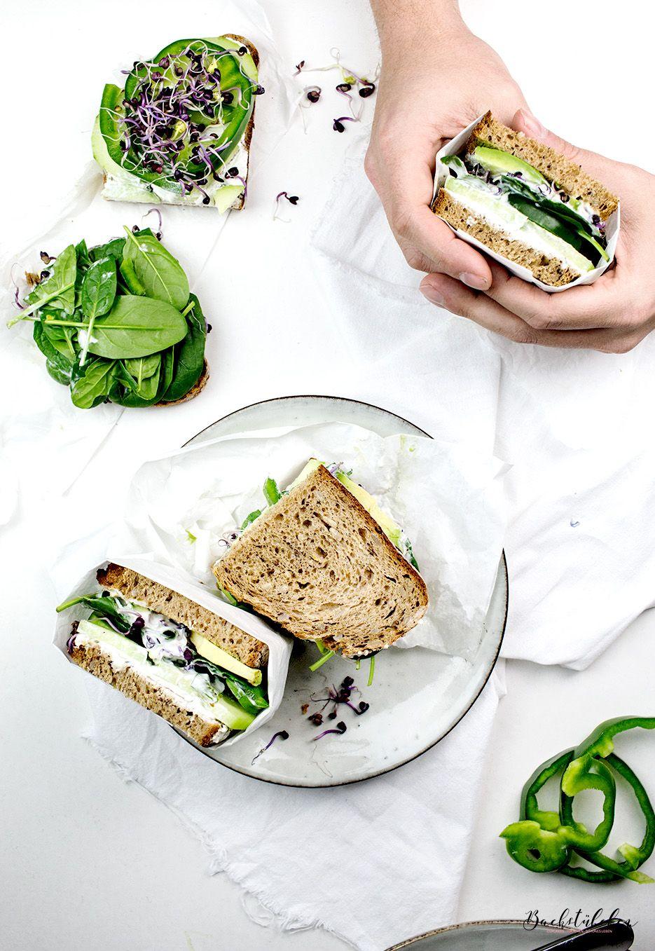 healthy green sandwich