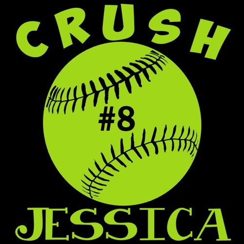 Personalized Girls Softball Vinyl Car Decal Sticker Custom - Custom car decals baseball