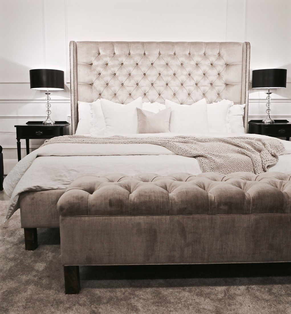 upholstered beds upholstered bedheads headboards buttoned bed rh pinterest at
