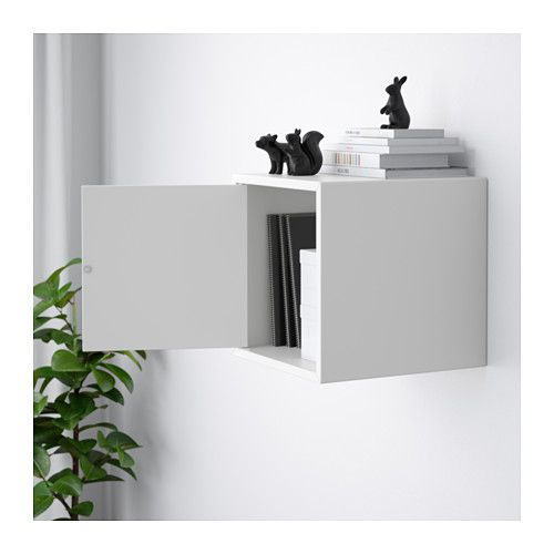 Cabinet With Door Eket White In 2019 Toy Organizing Cabinet