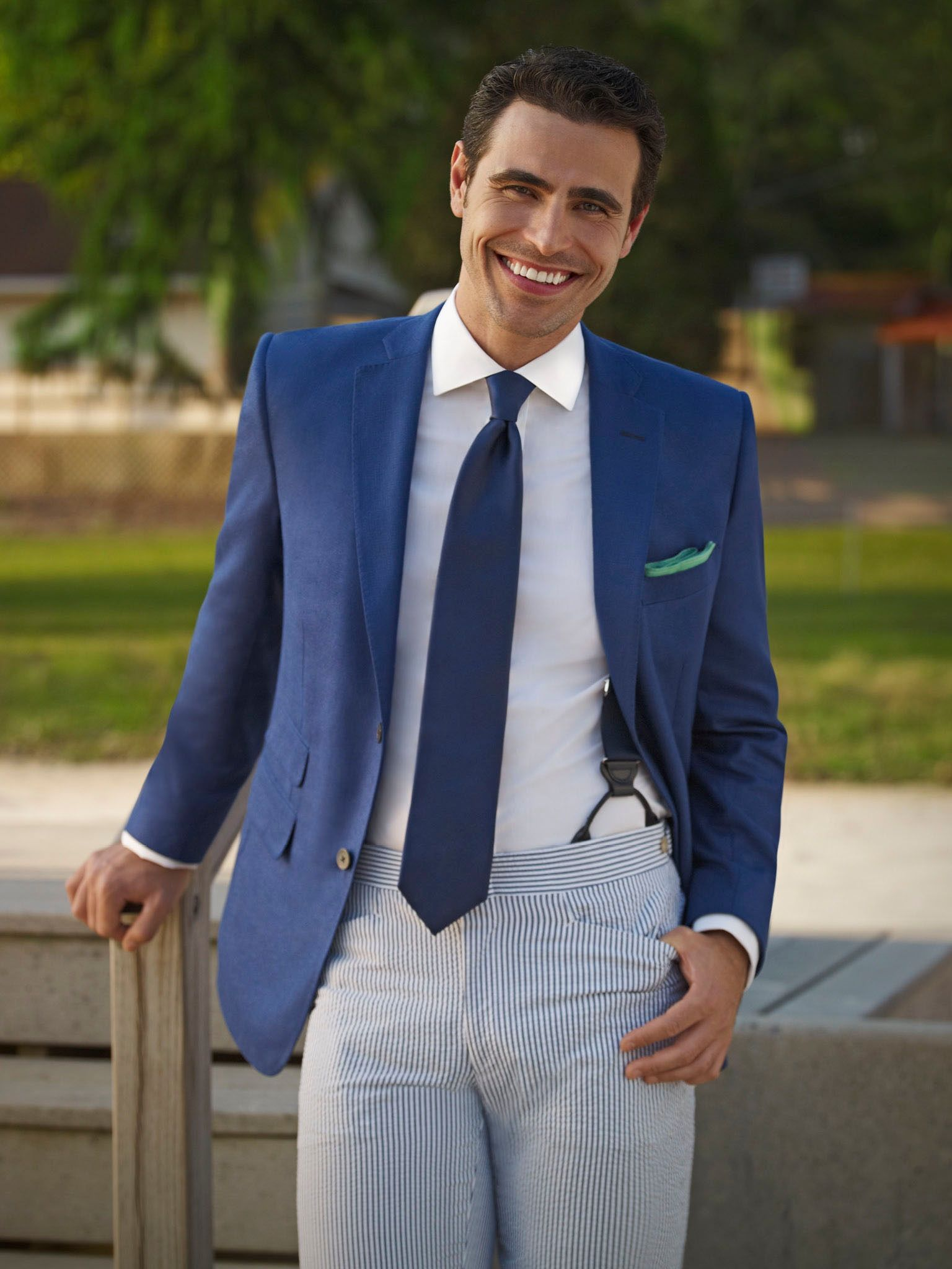 Tom James Spring 2013 navy blazer seersucker pants | My Style ...