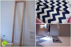 diy how to make a chevron room divider or dressing screen room rh pinterest com