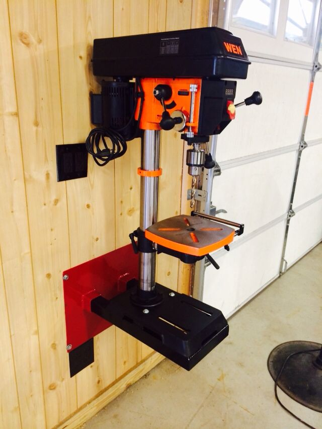 Drill Press Wall Mount Garage Tool Storage Garage Shop
