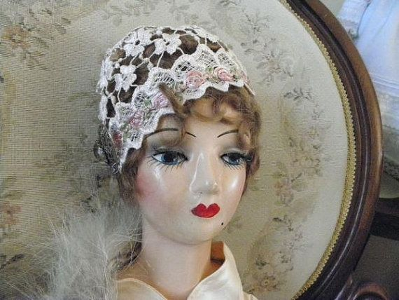32 Antique French REDesigned Flapper Boudoir Doll by calessabay, $169.95