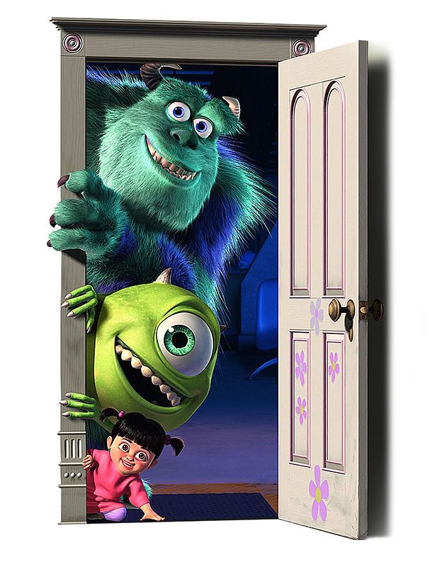 Monsters Inc Mike Sully V2 Wall Vinyl Adhesive Sticker Decal Print
