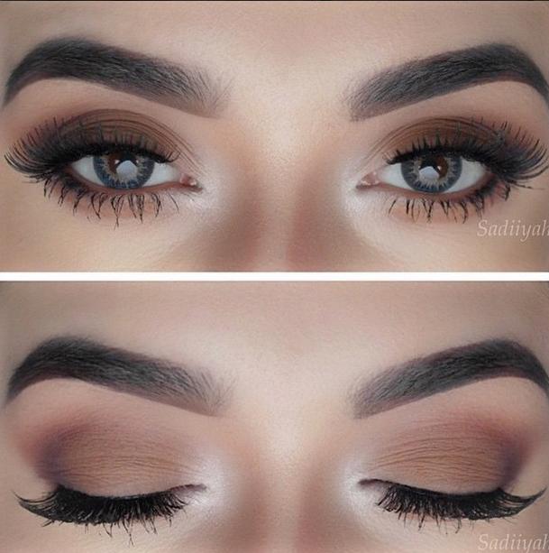 olho esfumado básico marrom