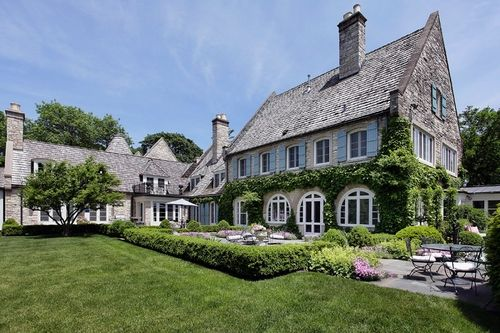 grey stone french provincial style manse in lake forest illinois by rh pinterest com
