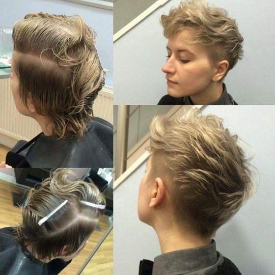 Short Hairstyle AsÍ AtrÁs Me Quedaría Así Aún Con Pelo Lacio En Las Ultimas Fotos Tiene